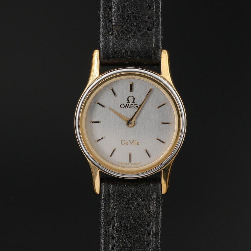 """Vintage Omega """"Deville"""" Two-Tone Quartz Wristwatch"""