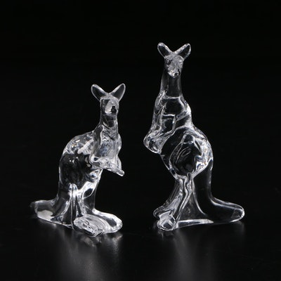"The Franklin Mint ""Animals of the Ark"" Crystal Kangaroo Figurines, 1976–1978"