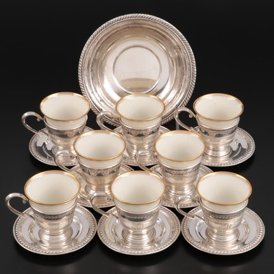 Matthews Co. and Lenox Sterling Demitasse Cups and More, Early to Mid 20th C.