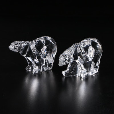 "The Franklin Mint ""Animals of the Ark"" Crystal Polar Bear Figurines, 1976–1978"