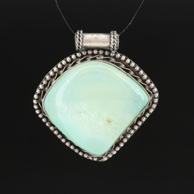 Chalcedony Pendant with Bead Accents