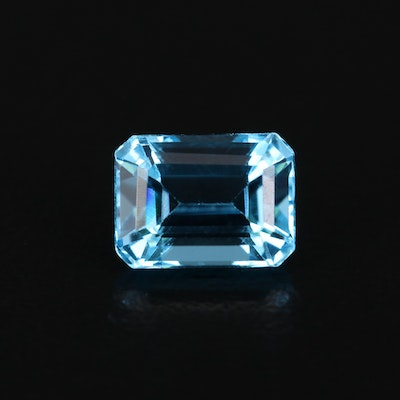 Loose 2.19 CT Cut Corner Rectangular Faceted Topaz