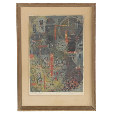 "Abstract Serigraph Attributed to Richard Hay Reagan ""La Ciudad"""