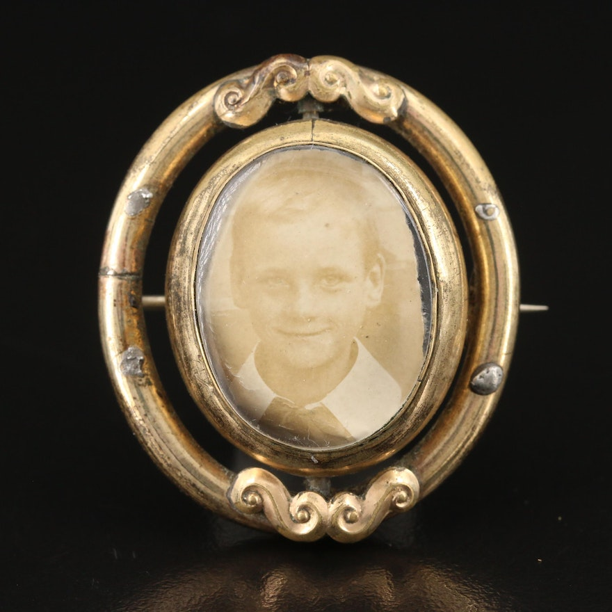 Victorian Reversible Mourning Brooch