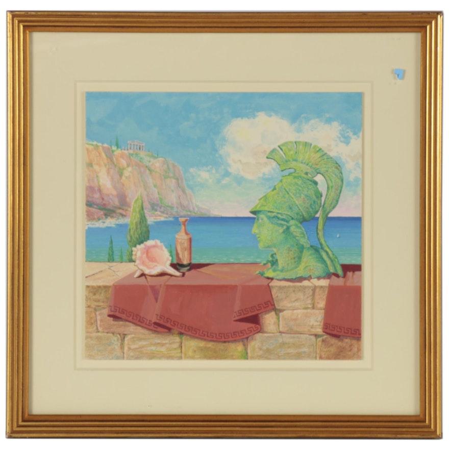 "Robert Myers Gouache Painting ""Relic,"" 2001"