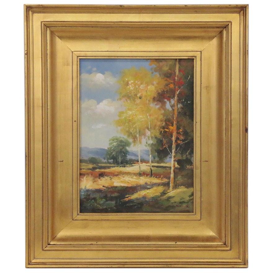 Forest Landscape Oil Painting, 21st Century