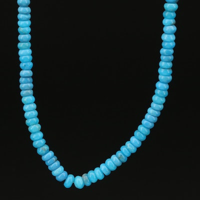 14K Turquoise Beaded Necklace