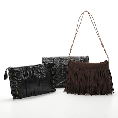 Carla Mancini Suede Fringe Bag, Lulu Townsend Leather Buckle Bag and More