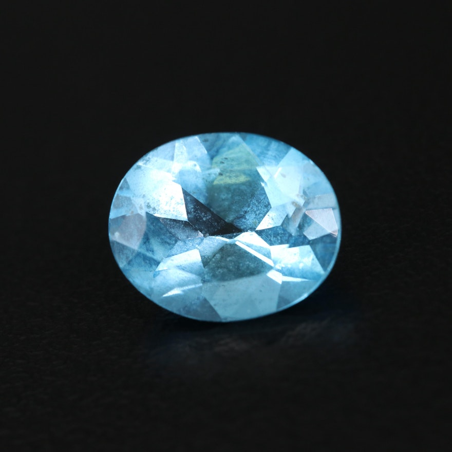 Loose 4.12 CT Oval Faceted Topaz Gemstone
