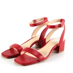 Vince Camuto Jantta Red Leather Sandals
