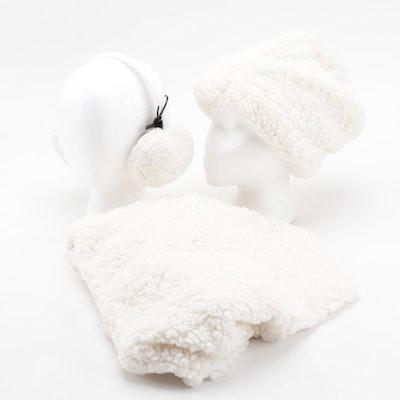 INC International Concepts Faux Fur Earmuffs, Infinity Scarf and Beanie