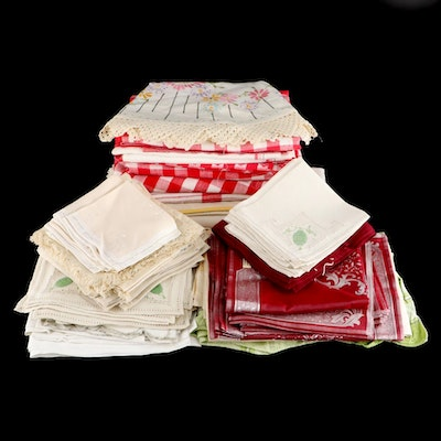 Table Linens Including Tablecloths, Napkins, and More, Mid to Late 20th Century