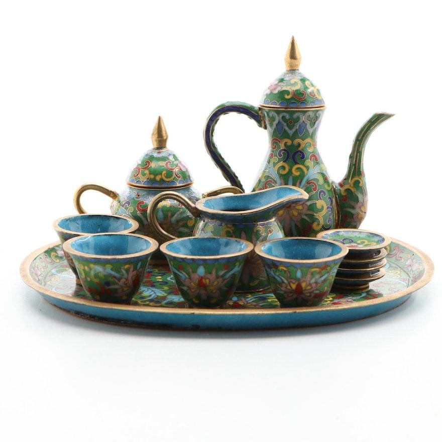 Chinese Cloisonné Miniature Tea Set
