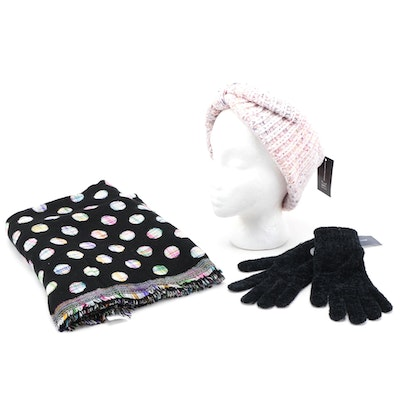 Echo, Charter Club and INC Knit Gloves, Headband and Scarf