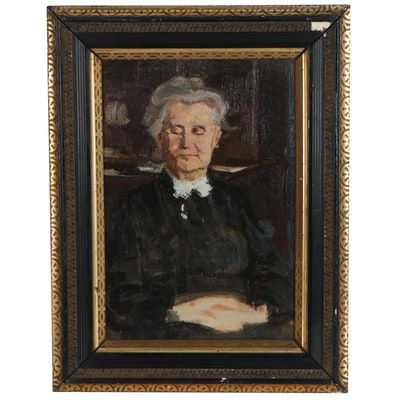 Oil Portrait of a Judge, 20th Century