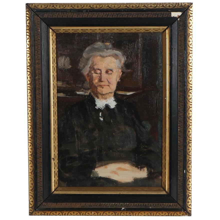 Oil Portrait of a Judge, 20th Century