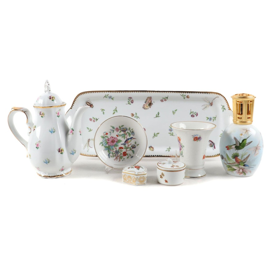 "Godinger ""Primavera"" Tray with Other Ceramic and Porcelain Table Accessories"