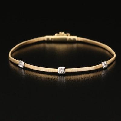 Marco Bicego Diamond 18K Station Bracelet