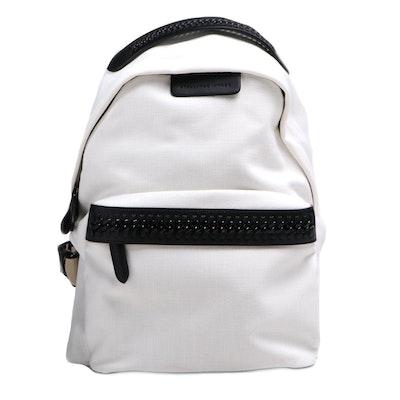 Stella McCartney White Fallabella Go Canvas Backpack