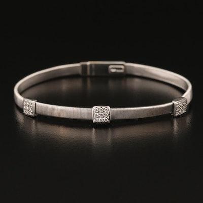 Marco Bicego 18K Diamond Station Bracelet