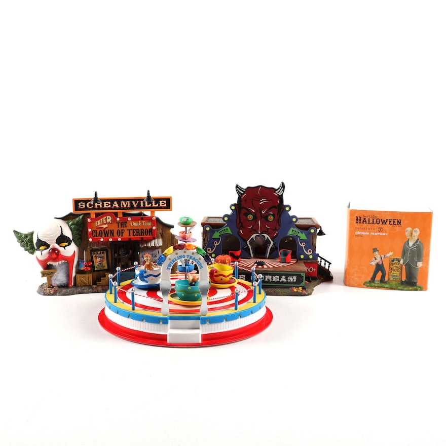 "Department 56 Halloween Displays and ""Twirling Tea Cups"""