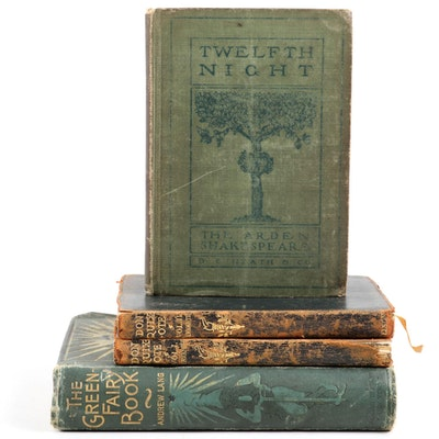 """The Green Fairy Book"" by Andrew Lang with ""Don Quixote"" and ""Twelfth Night"""