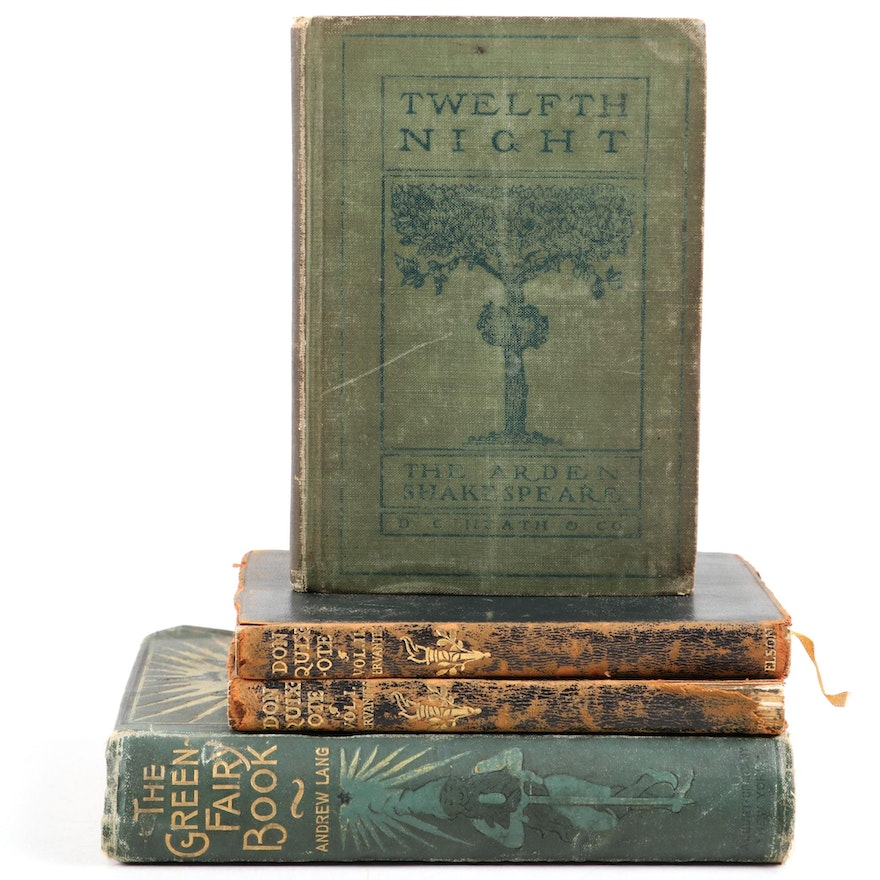 """""""The Green Fairy Book"""" by Andrew Lang with """"Don Quixote"""" and """"Twelfth Night"""""""