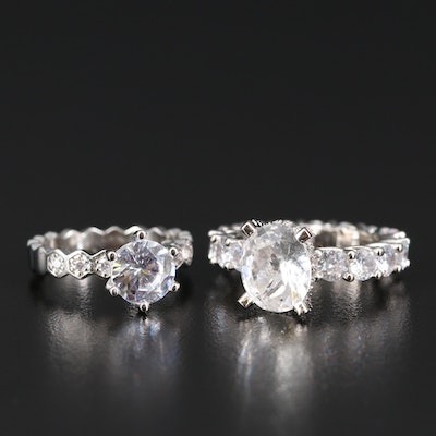 Sterling Cubic Zirconia Rings