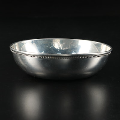Tiffany & Co. Handcrafed Polished Pewter Decorative Bowl