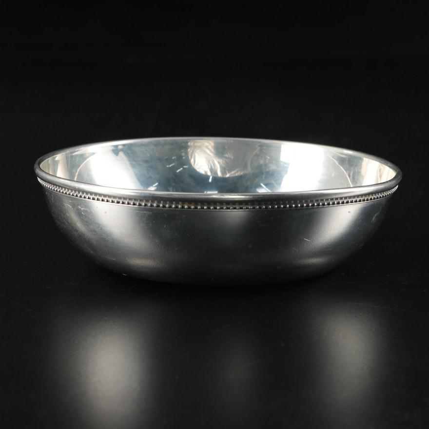 Tiffany & Co. Handcrafed Polished Pewter Decorative Bowl