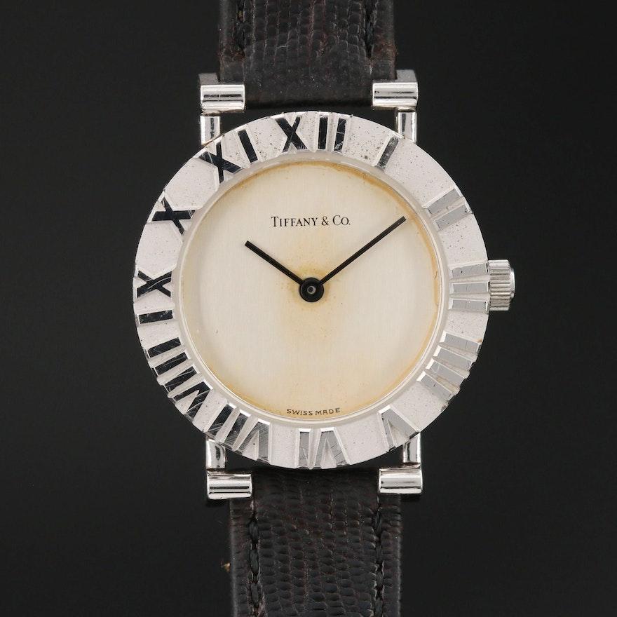 """Tiffany & Co. """"Atlas"""" Sterling Silver Wristwatch"""