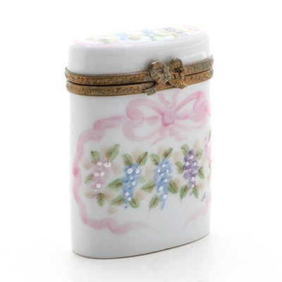 Hand-Painted Porcelain Limoges Box