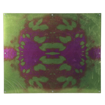 Abstract Inkblot Style Image Transfer on Acetate, 21st Century