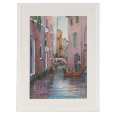 Joan Fistick Watercolor Painting of Venice Canal