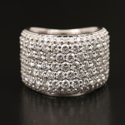 14K 3.46 CTW Pavé Diamond Band