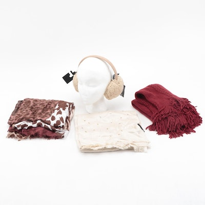 INC Chenille Infinity Scarf, Printed and Embellished Scarf Shawls and Earmuffs