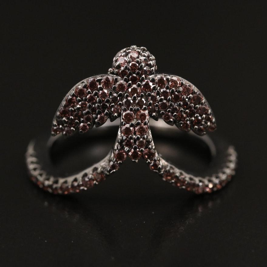 Sterling Cubic Zirconia Bird Ring
