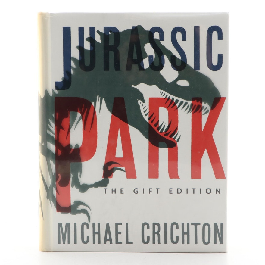 """Signed """"Jurassic Park"""" Special Gift Edition by Michael Crichton, 1993"""