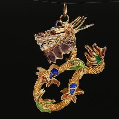 Enamel Dragon Pendant