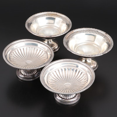 Webster Sterling Silver and Preisner Silver Company Silver Plate Compotes