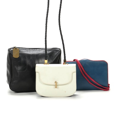 Ted Lapidus Flap Purse, DKNY Pouch and Greta Leather Flap Purse