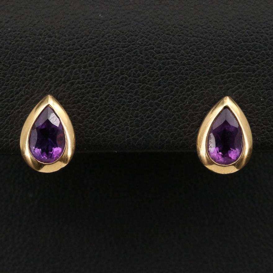 18K Amethyst Earrings