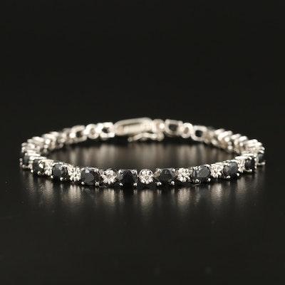Sterling Corundum Line Bracelet