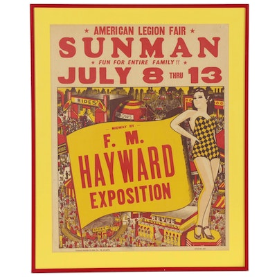"Serigraph of American Legion Fair Poster ""Sunman,"" Mid-20th Century"