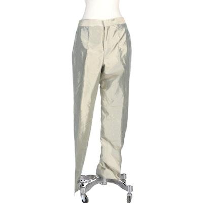 Zamasport for Gucci Jade Green Iridescent Silk Pants
