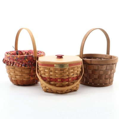 Longaberger and Other Woven Baskets, Late 20th Century