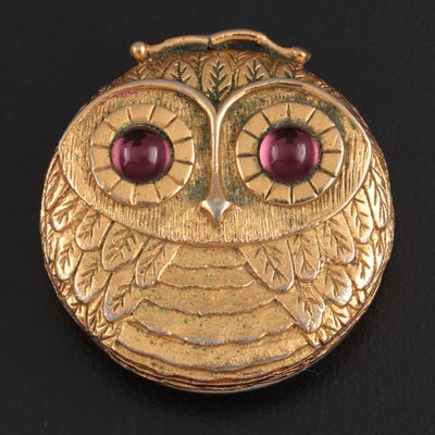 Revlon Owl Pendant Perfume Compact, Mid to Late 20th Century