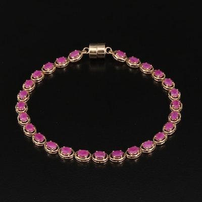 9K Ruby Link Bracelet