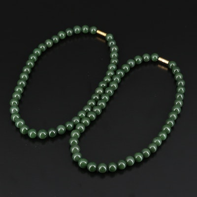 Beaded Nephrite Necklaces