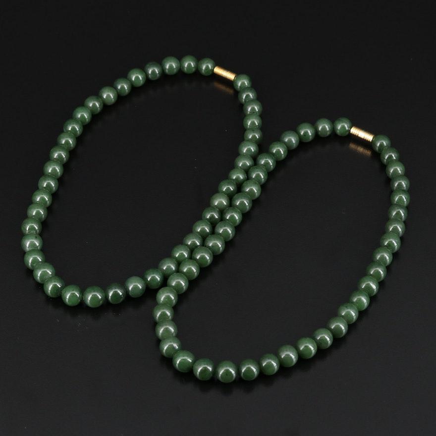 Beaded Nephrite Necklaces